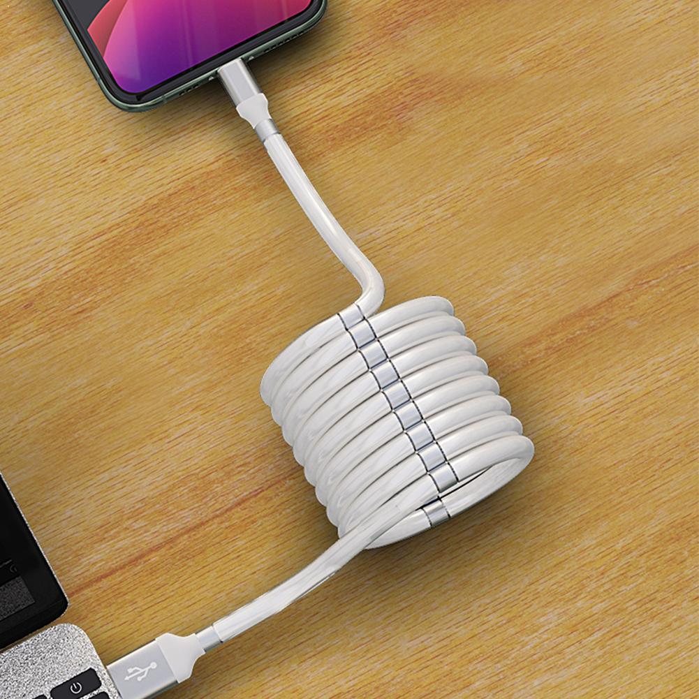 Micro USB tipo C Cable cargador fecha Cable magnético para iPhone Xiaomi Android Cable bobina Huawei para Samsung|Cables para teléfonos móviles|   - AliExpress
