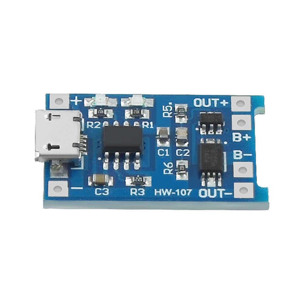 5 Buah 5V 1A Micro USB 18650 Pengisian Board Charger Modul + Perlindungan Dual Fungsi TP4056