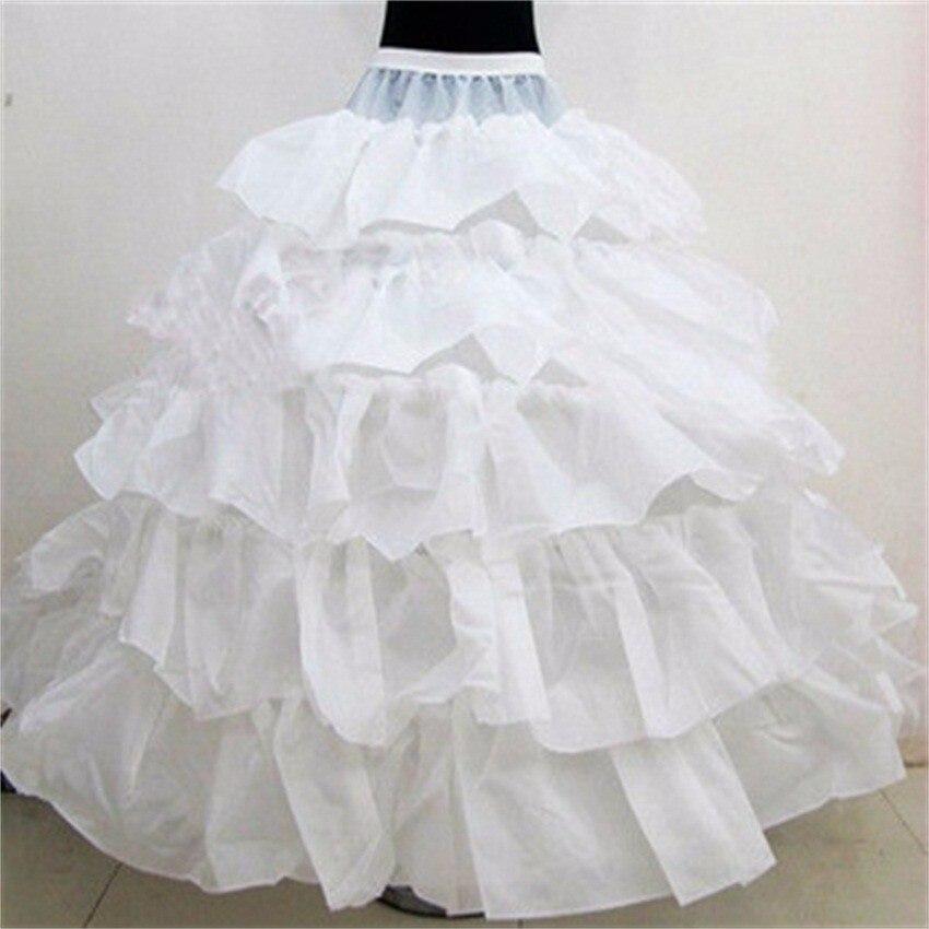 Crinoline Four Steel Ring Five Lotus Leaf Extra-large Diameter Hem Wedding Dress Ultra-Peng Slip Dress