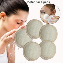 10 Packs Exfoliating Loofah Face Brush Cleanser And Massager 100% Natural Sponge Cleansing Scrubber Handheld Pad