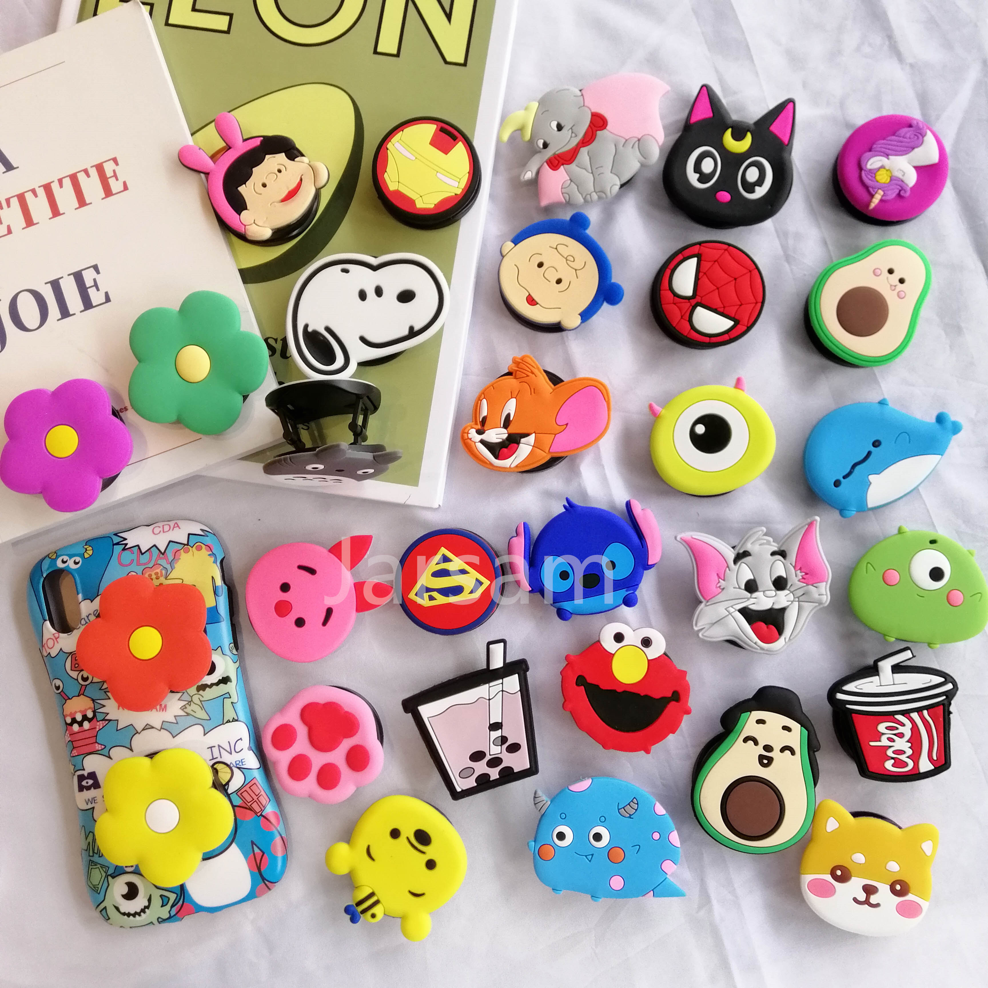 Cute  Cartoon Universal Mobile Phone Bracket Animal Folding Phone Expanding Stand Finger Holder  Phone Holder Stand Car