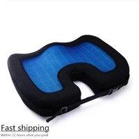 2019 Quality New Design U Shape Silicone Gel Coccyx Protect Memory Foam Summer Cool Seat Office/Chair /Car/ Wheelchair Cushion