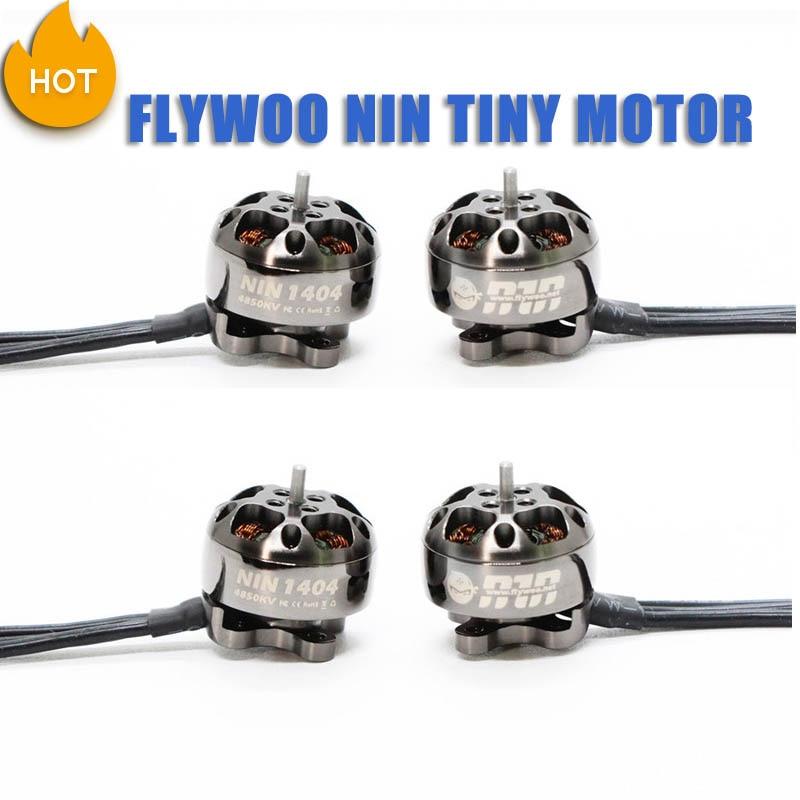 4 PCS FLYWOO NIN TINY NT1404 1404 3750KV 4850KV 2-4S Brushless Motor For RC Models RC FPV Racing Drone Quadcopter Frame Kit