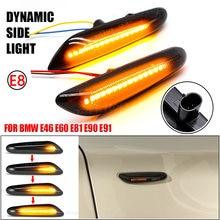 Led lado marcador espelho indicador lâmpada fluindo luz de sinal volta da água âmbar para bmw e90 e91 e92 e93 e60 e87 e82 e61