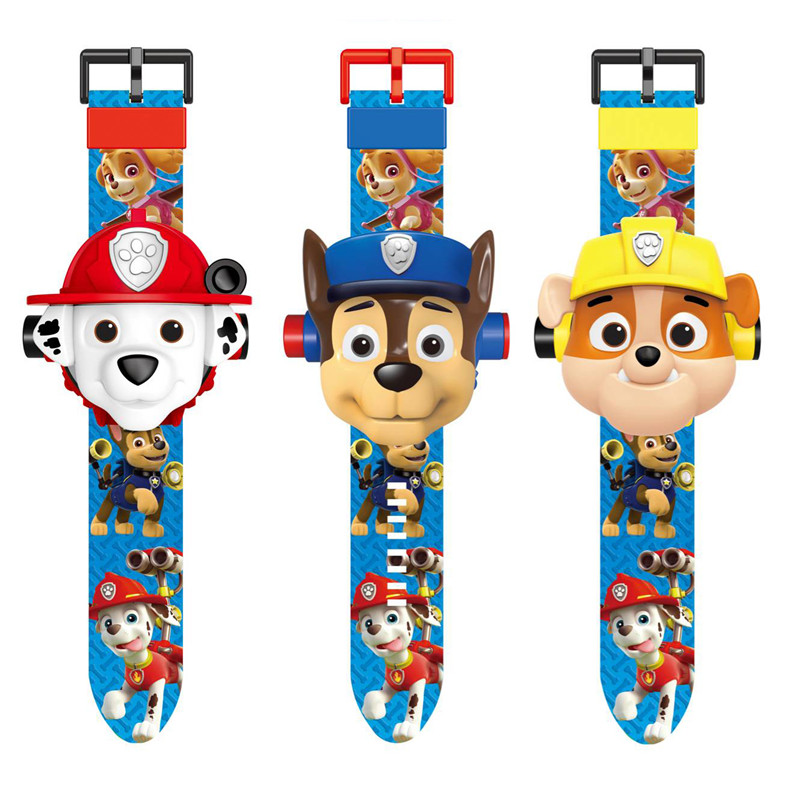 Paw patrol toys Projection watch action figure paw birthday anime set patrulla canina toy gift