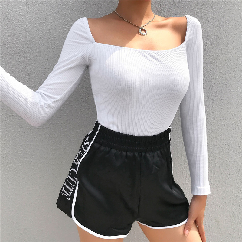 Women Sexy Plain Solid Bodysuit Elegant Long Sleeve Shirt Body Top Romper Bandage Stretch Leotard Evening Party Club Streetwear
