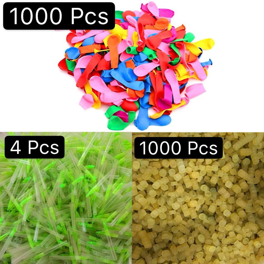 1000pcs Water Balloons With Refill Easy Kit Latex For Kids Adult Beach Toy With Fill Nozzle Filling Water Bomb Ball Fight Games