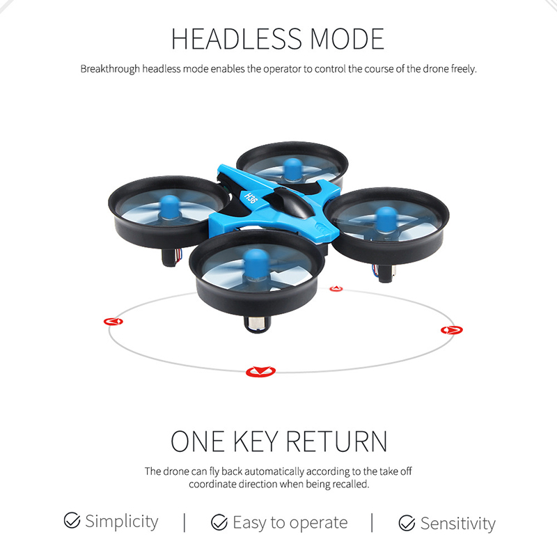 Quadcopter 2.4G Mini Drone Remote Control Free Rotating Headless Mode Aircraft with LED Light for Kids NSV775