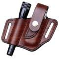 Taschenlampe Leder Mantel Mantel Tasche Mantel Multi-funktion Taille Gürtel Werkzeug Tasche Tasche Messer Halter Outdoor Gürtel Set