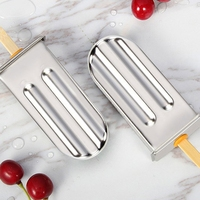 Frozen Stainless Steel Popsicle Molds Ice Cream Stick Holder 6 Molds Silver Home Diy Ice Cream Moulds Round Mould