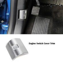 Car ABS Silver Engine Cover Switch Trim Decoration for Ford F 150 2015 2020