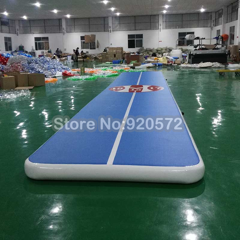 8mx2mx20cm Gymnastics Air Track Tumbling Mats Big Inflatable Airtrack Floor With Free Electric Air Pump Professional Training