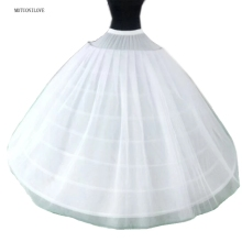 Biggest Widest Petticoat Underskirt 8 Eight Hoops 3 Layers Tulle 135CM*175CM Wedding Crinoline For Quinceanera Dress Ball Gown