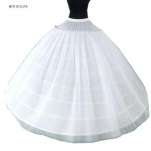 Enagua más ancha para vestido de boda, 8 aros, 3 capas de tul, 135CM x 175CM, crinolina, para quinceañeras