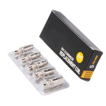 5Pcs/Lot Replacement Atomizer BVC Bottom Dual Coil Heads For Aspire 1.6 Ohm