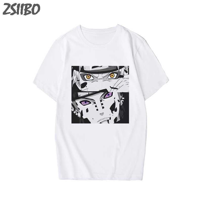 Mannen Tshirt Naruto Zomer Harajuku Koele Unisex Korte Mouw T-shirt Japanse Anime Grappige Gedrukt Streetwear Plus Size T-shirt