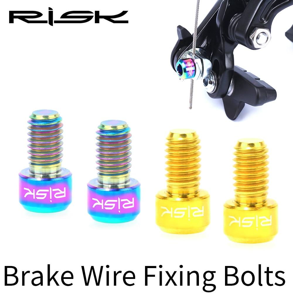 8pcs Road Mountain Bike V Brake Clamp Screws C Brake Caliper Bolts Adjuster