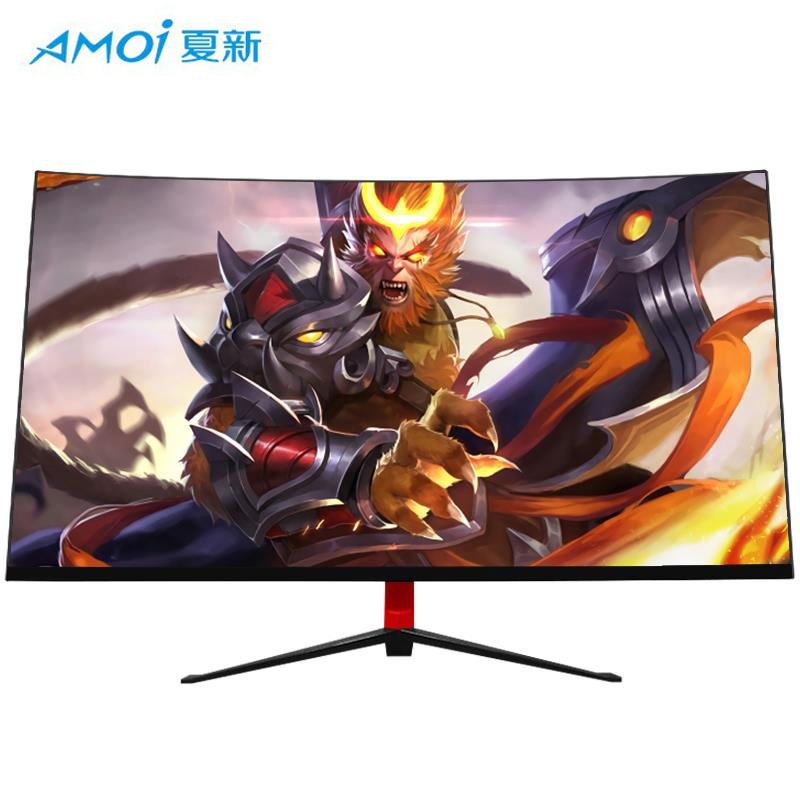Amoi 24/27/<font><b>32inch</b></font> Curved Computer <font><b>Monitor</b></font> Screen for Gamer 75HZ 165HZ PC Gaming <font><b>monitor</b></font> Full Hdd input 5ms Respons HDMI/VGA image