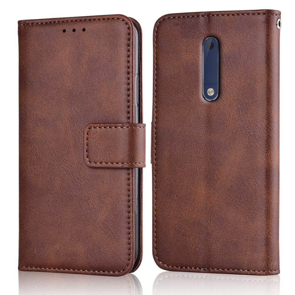 Slim Flip Leather Cover for On <font><b>NOKIA</b></font> <font><b>5</b></font> <font><b>TA</b></font>-<font><b>1053</b></font> <font><b>5</b></font>.2'' Case Wallet Magnetic Case for Nokia5 2017 Back Cover image