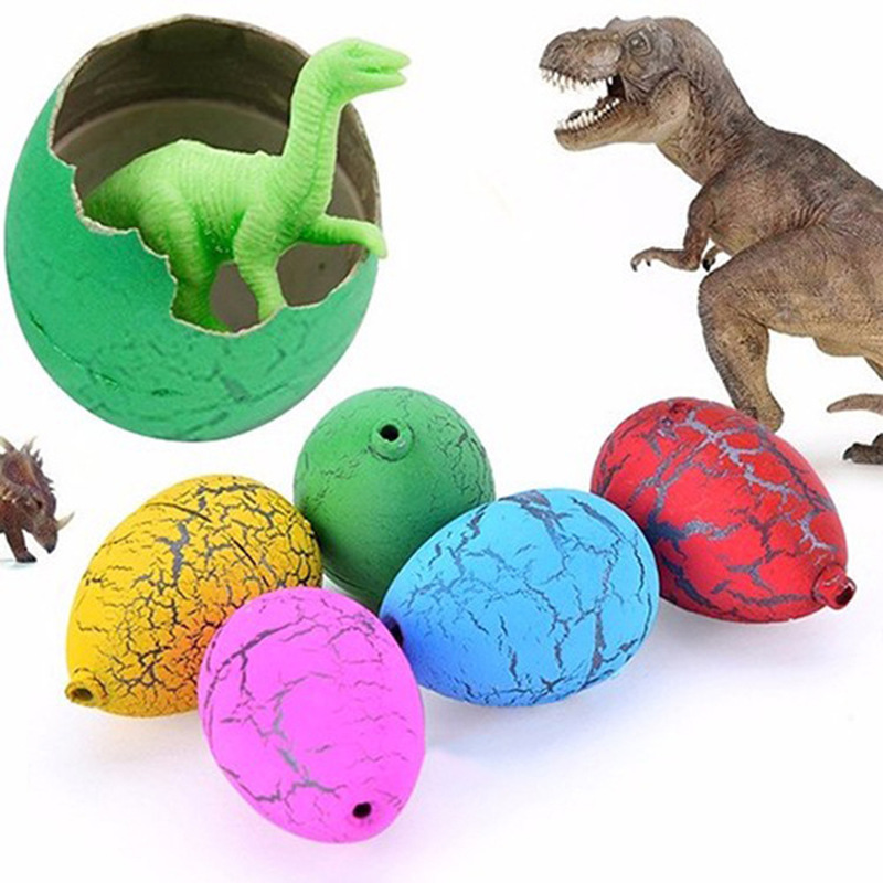 6Pcs Cute Magic Hatching Growing Dinosaur Eggs Add Water Growing Dinosaur Novelty Gag Toys For Child Kids Educational Toys Gift