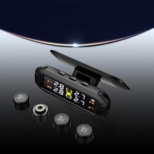 Image 5 - LEEPEE نظام مراقبة ضغط الإطارات الشمسي ، TPMS مع 4 مستشعرات خارجية ، إنذار درجة الحرارة ، توفير الوقود ، مراقبة ضغط إطارات السيارة