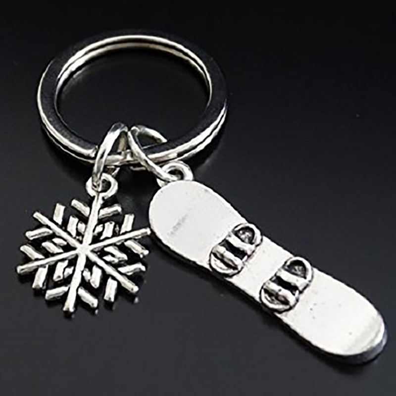 Snowboard Snowboarder Keychain Snowboarding Keychain Key Ring outdoor multi tool camping hiking tools-2