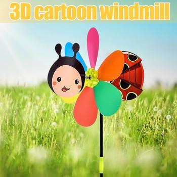Nowy zabawny wiatrak trójwymiarowy wiatrak kreskówka zabawki dla dzieci dekoracja zewnętrzna wiatrak ogrodowy dla dzieci tanie i dobre opinie 4-6y 7-12y 12 + y CN (pochodzenie) Z tworzywa sztucznego NONE Czerwony Multicolor Sport Unisex Outdoor Toys Pojedyncze