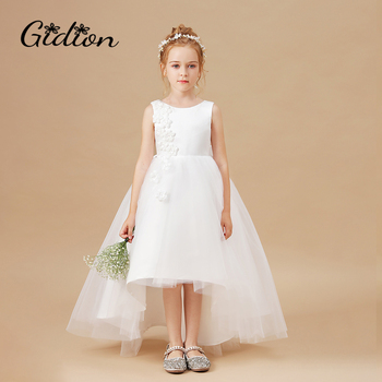 Christmas Princess Flower Girl Dress Wedding Birthday Party Dresses For Girls Sleeveless Bowknot Dress Children Party gardenwed simple lace flower girl dresses 2020 backless girl wedding party dress princess dress for girls