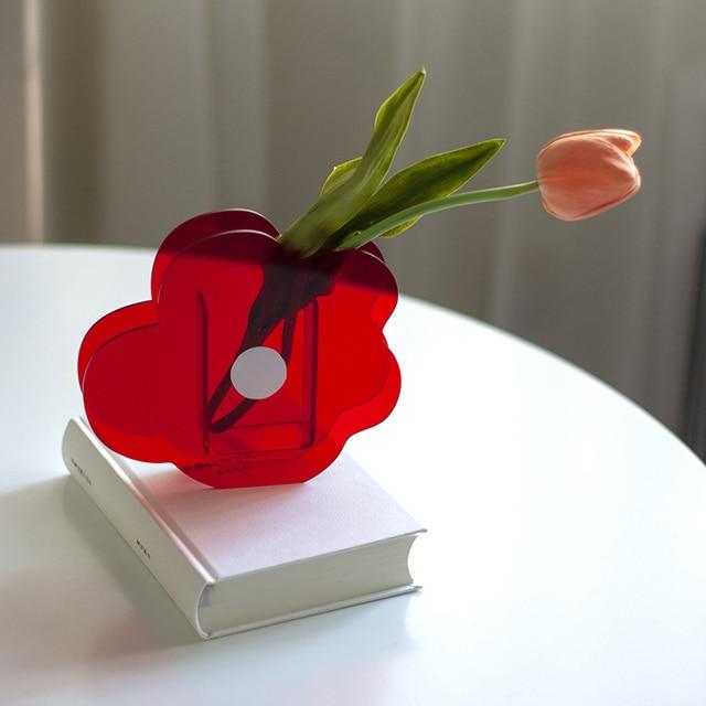 O.RoseLif nouveau mignon récipient à fleurs décoratif acrylique Vases fleur Design mariage fête fleurs centres de table maison bureau décor