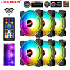 COOLMOON 120mm Light-X RGB Fan Double sided light CPU Cooler Fan 6pin RGB Quiet Computer Case CPU Cooling fan Desktop Heat Sink
