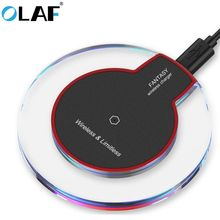 Olaf QI Wireless Charger For iPhone XS Max XR Phone LED USB