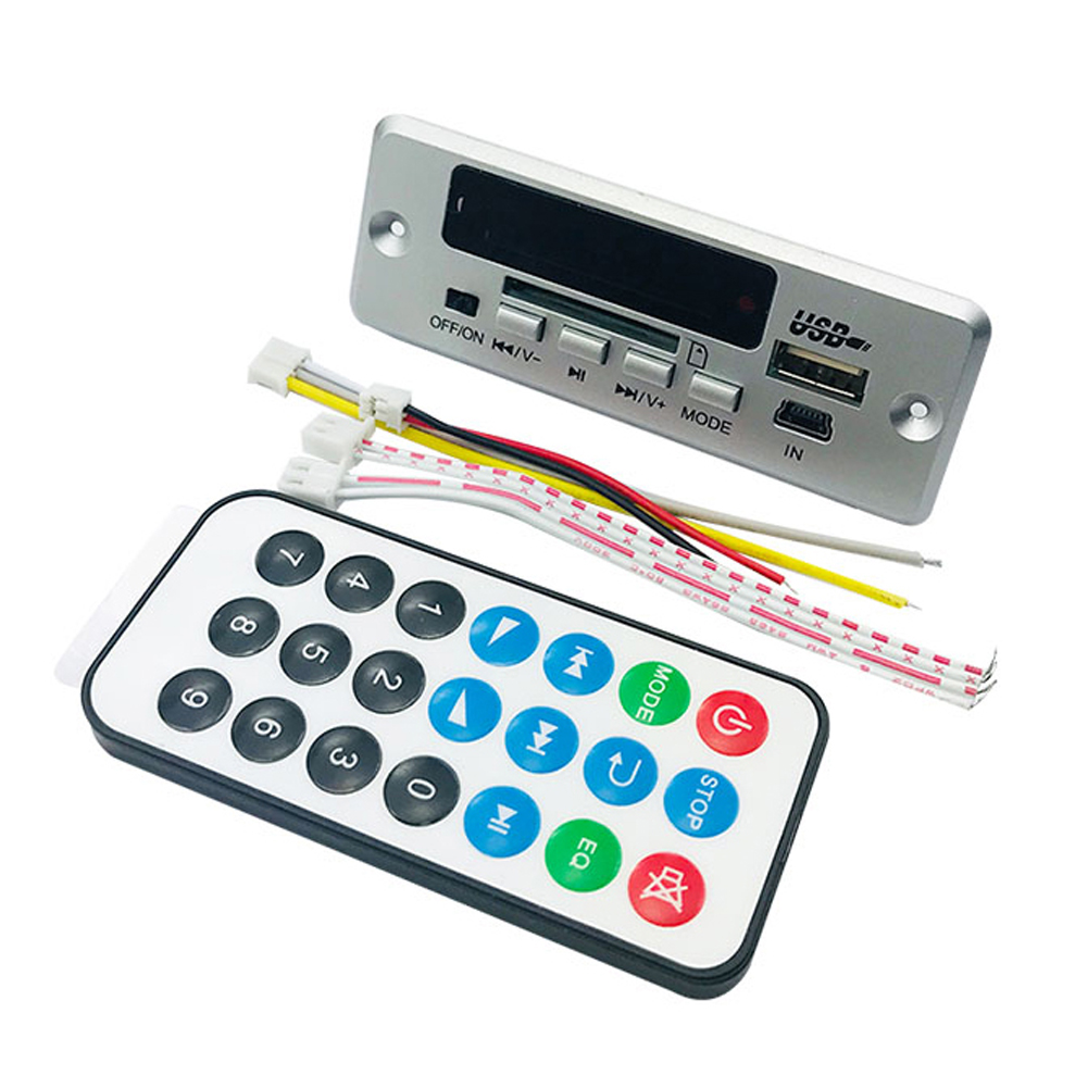 DC12V/5V MP3 Decode Board LED USB AUX FM Bluetooth Radio Amplifier With Remote New