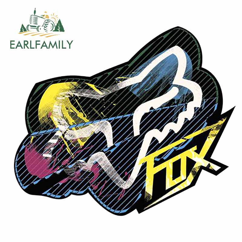 EARLFAMILY 13cm X 11.1cm For Fox Car Stickers And Decals Vinyl Material Suitable For SUV Waterproof 3D Graffiti Sticker