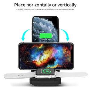 Image 5 - Kablosuz şarj istasyonu 3 in 1 katlanabilir standı Pad 15W Qi hızlı şarj Dock Airpods için Pro Apple izle 5 4 3 iPhone 11 XS XR 8