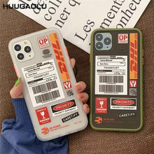 DHL Hot Express Label Cases For iPhone 11 Pro Max X XR XS MAX 6 6s 7 8 Plus Matte Hard Cases Cover Etui Coque(China)