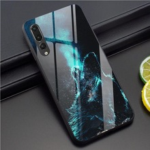 Wolf Tempered Glass Phone Case for Huawei Honor 10 Phone Case for Mate 20 PRO 7A 9 10 Y6 Y9