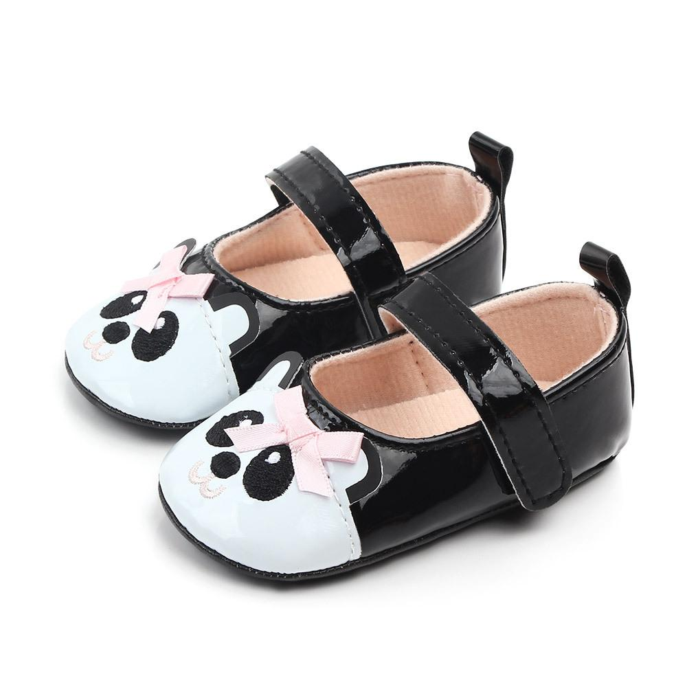 Baby Toddler Shoes Non slip Soft Sole Shallow Opening Cute Panda Design Shoes in First Walkers from Mother Kids
