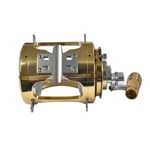 Image 2 - Topline Tackle Saltwater Fishing Reels 2 Speed 50W Trolling Drum Heavy Duty Fishing Reel Saltwater Right Hand Gold Sea Fish Reel