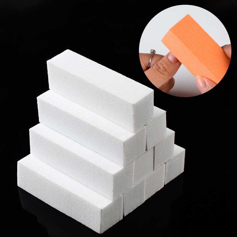 Mtssii Nail File Buffer Block  Sponge Manicure Polish Sanding Nail Buffer Buffing Multi-colored Nail Art Tools