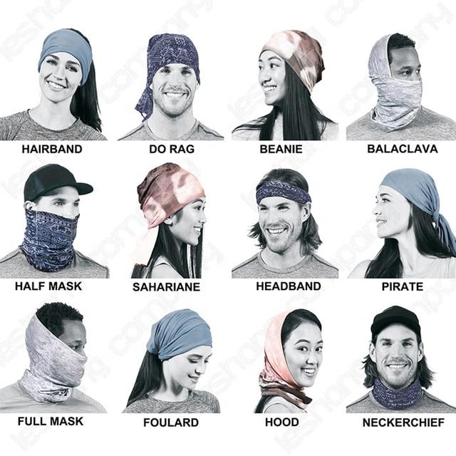 Customized Neck Gaiter Fishing Sport Scarf Seamless Bandana Tube Buff Headband Running Hunting Face Mask Bicycle Face Shield Men 6