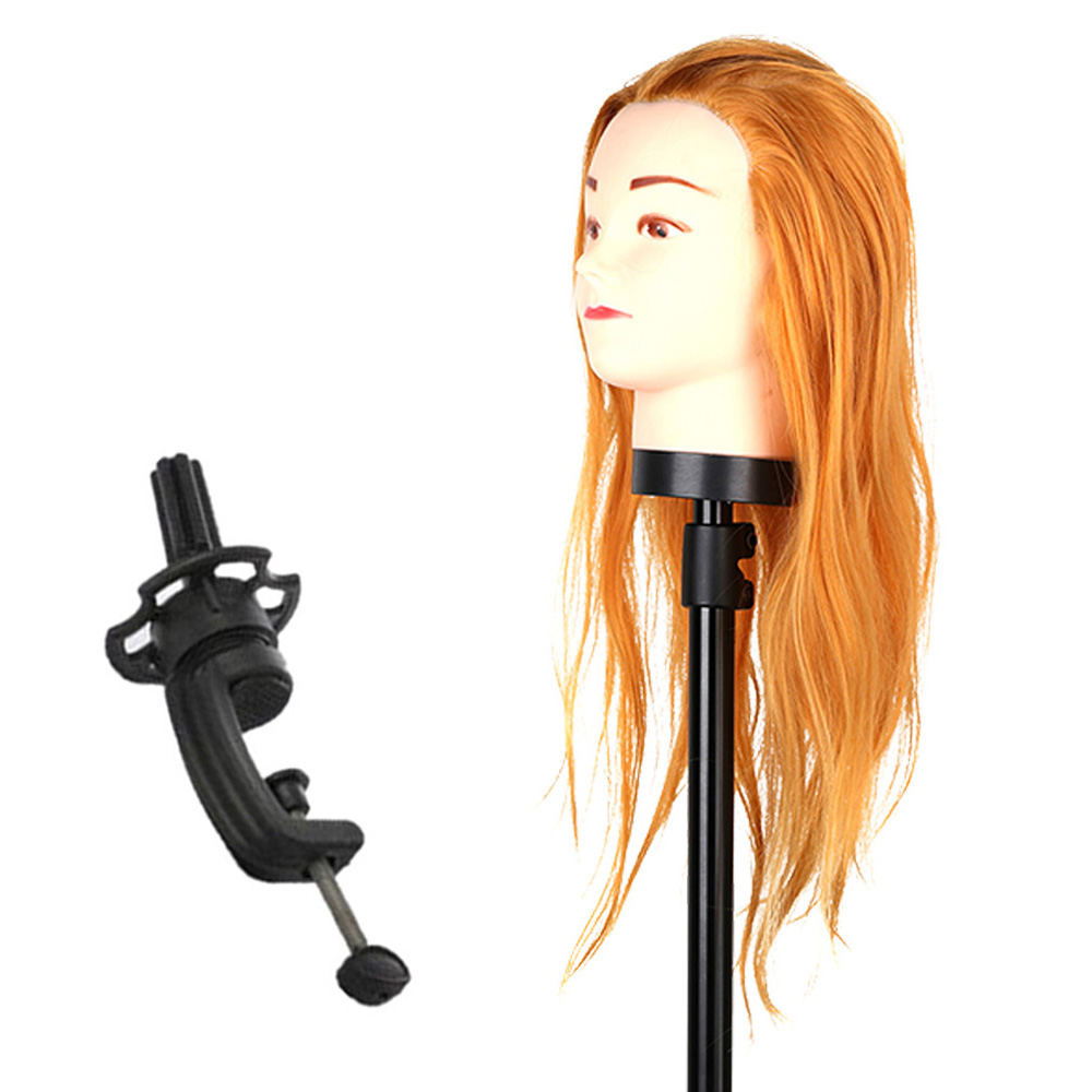 Hair Hairdressing Training Head Practice Model Mannequin Cut with Clamp