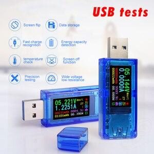 AT35 5 цифровой USB 3,0 цветной ЖК-Вольтметр Амперметр измеритель напряжения тока мультиметр батарея Зарядка Внешний аккумулятор USB дисплей тест...