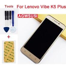 Для Lenovo Vibe K5 Plus A6020a46 ЖК сенсорный экран дигитайзер Сенсорное стекло + ЖК-дисплей панель монитора в сборе + рамка