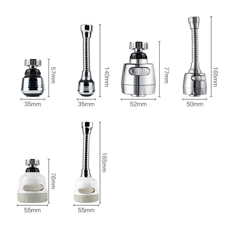 Dapur Faucet 2/3 Mode 360 Derajat Dapat Disesuaikan Air Filter Diffuser Hemat Air Nozzle Faucet Konektor Memperpanjang