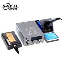 OSS ST-92 soldeerstation elektronische lassen iron iphone X XS MAX moederbord gelaagde verwarming station T12 Soldeerbout Tips