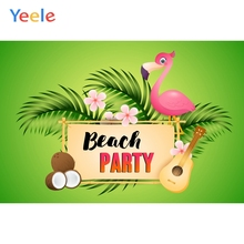 Yeele Summer Beach Party Photocall Coconut Flamingo Photography Backdrops Personalized Photographic Backgrounds For Photo Studio