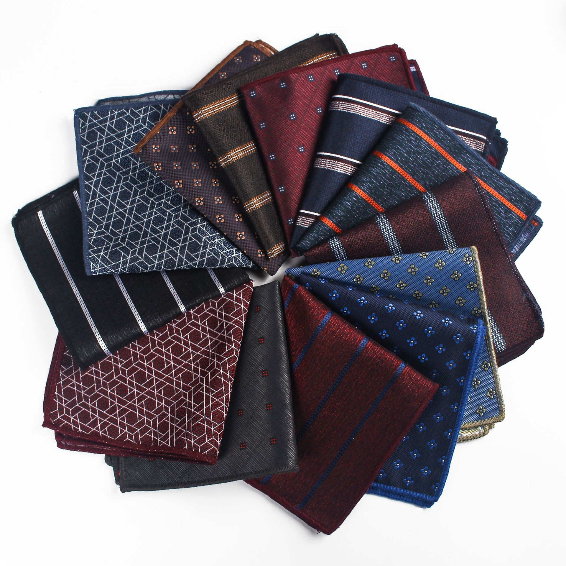 Hot Sale 24*24cm Polyester Jacquard Retro Men's Business Pocket Towel For Wedding Prom Party Women Pocket Square Towel