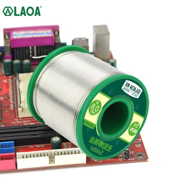 цена на LAOA 0.8mm 99.3% Tin Contained High Purity Tin Wire Active Lead-free Solder Wire with Rosin Core for Electric Soldering Iron