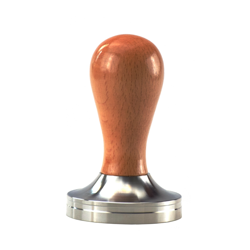 Ecocoffee Beech Wooden Handle 304 Stainless Steel Coffee Tamper 58mm Barista Coffee Accessories 2019 New Stocked