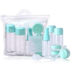 Image 2 - 8 sztuk zestaw butelek podróżnych szczelna pojemniki na przybory toaletowe wielokrotnego użytku na płynny szampon z butelka z rozpylaczem kosmetyczne butelki na krem